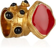 ShopStyle: Yves Saint Laurent Arty gold-plated enamel ring
