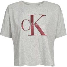 Cropped T-Shirt by Calvin Klein (2.405 UYU) ❤ liked on Polyvore featuring tops, t-shirts, crop top, grey marl, cropped tops, crop t shirt, cut-out crop tops, gray tees and gray t shirt