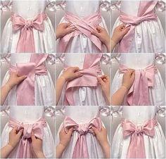Diy Bow, Diy Ribbon, Diy Fashion, Fashion Outfits, Fashion Tips, Sewing Hacks, Sewing Lessons, Oktoberfest Outfit, Gift Bows
