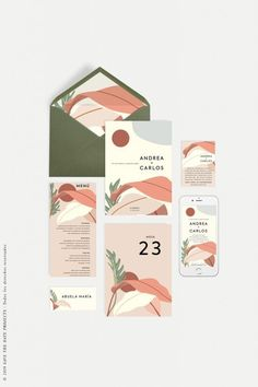 Imagine the sun on your body, refreshing breezes, light and color that convey these summer wedding invitations California. Corporate Design, Brand Identity Design, Graphic Design Branding, Packaging Design, Design Brochure, Brand Design, Illustration Inspiration, Graphic Design Inspiration, Web Design