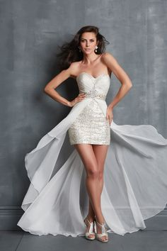 Prom Dresses 2014 High Low Sweetheart Prom Dresses Rhinestone Beaded Chiffon Lace , You will find many long prom dresses and gowns from the top formal dress designers and all the dresses are custom made with high quality Mini Wedding Dresses, High Low Prom Dresses, Strapless Dress Formal, Short Dresses, Formal Dresses, Prom Dresses Canada, Homecoming Dresses, Prom Night Dress, Evening Dresses