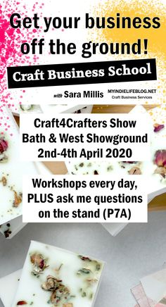 Would you like to earn some money from your creative hobby - or perhaps you already have a business that you'd like to create more sales from?  Come and visit the Craft Business School at Craft4Crafters this year and hear about the reality of starting and running a craft business and the steps you need to take to make that jump successfully.  #smallbusiness #etsytips #etsyseller #handmadebusinessideas #handmadebusinessproducts #craft4crafters #craftbusinesschool #craftworkshop Business Sales, Small Business Marketing, Craft Business, Business School, Business Ideas, What To Sell Online, Production Planning, Small Business Resources, Inventory Management