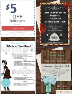 Christmas vacation invitation clark griswold invitation we are happy to announce 500 off our entire store coupon code likeandshare min stopboris Images