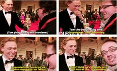 Tom being a nice guy! <3