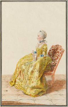 Mademoiselle Partiet, fille de l'intendant des Invalides 1758 Tome 5 N°3
