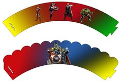 Making My Party!: The Avengers - Mini Kit with frames for invitations, labels for snacks, souvenirs and pictures!