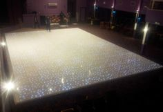 40ft x 30ft white LED starlit dance floor installed by www.24carrotevents.co.uk