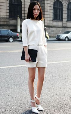 All white outfit #streetstyle