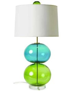 FROSTY GLASS LAMP | Blue, Green, Balls, White, Shade | UncommonGoods