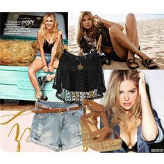 Kate Upton by juliamedvedeva on Polyvore featuring By eLUXE, Wet Seal, Bee Charming and Sam Edelman