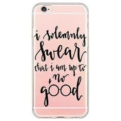 I Solemnly Swear That I Am Up to No Good Harry Potter soft TPU protective case for your iPhone. Available for 5 5s 6 6s/6s Plus Durable TPU Clear Case