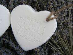 Cuori di sapone handmade alla lavanda di ♥ La casa di Gaia ♥ su DaWanda.com