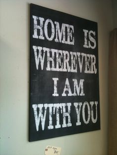 Wall sign for the home.