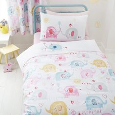 90cm x 120cm Cheeky Cats Childrens Cot Duvet Cover and Matching Pillowcase Set