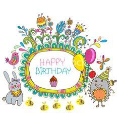 Hedge birthday vector by Elmiko on VectorStock®