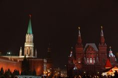 Number 1 on your list of things to do in Moscow: The Red square at night