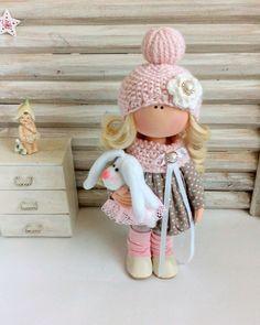 Текстильная кукла. Мила - купить или заказать в интернет-магазине на Ярмарке Мастеров | Нежная текстильная кукла выполнена из…