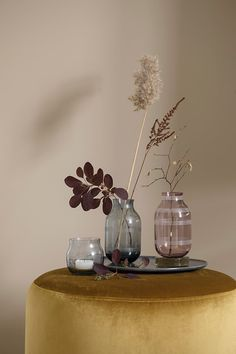Vases in nice earthy tones from the famous danish design brand, Kähler