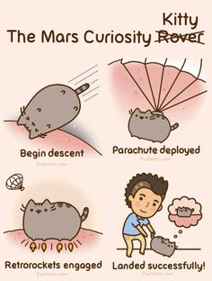 Pusheen Travels to Mars