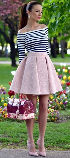 B+W H&M Top and Pink Skirt by My Silk Fairytale