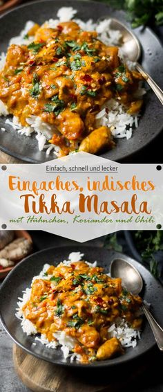 Simple Indian Tikka Masala with Chicken - Ina Is (s) t The Recipe for Tik . - Simple Indian Tikka Masala with Chicken – Ina Is (s) t The recipe for Tikka Masala is a true spic - Quick Healthy Meals, Healthy Eating Recipes, Healthy Breakfast Recipes, Healthy Dinner Recipes, Healthy Chicken, Healthy Appetizers, Vegetarian Recipes, Spicy Dishes, Family Meals
