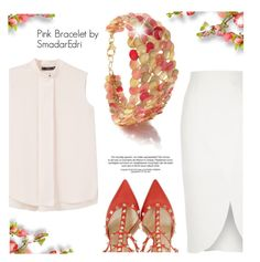 """SmadarEdri Jewelry"" by monmondefou ❤ liked on Polyvore featuring River Island, MANGO, Valentino, womensjewelry and smadaredri"