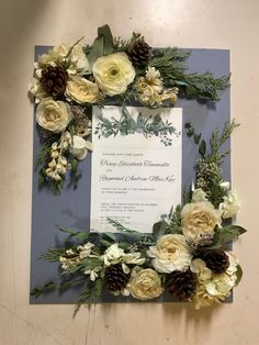 This preservation wreath design gives you all the cozy winter feels with pinecone and cedar accents. #winterflowers #floralpreservation #winterwreath #pinecone #leighflorist #weddingflowers #bridalbouqet #weddingflorist #njweddingflorist #phillyweddingflorist #cedargreenery Custom Shadow Box, Flowers Delivered, Winter Flowers, Local Florist, Cozy Winter, Pinecone, Box Design, Wedding Flowers, Floral Wreath