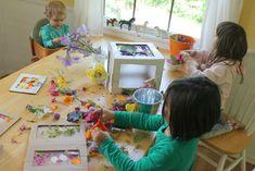 Making Nature Suncatchers with Kids