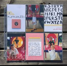 Loveleigh Stampin' Little Adventures Moments Like These Project Life by Stampin' Up! Layout