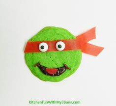 Easy Teenage Mutant Ninja Turtle Cookies from KitchenFunWithMy3Sons.com