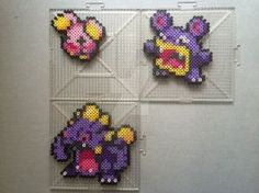 #293-#295 Whismur Family Perlers by TehMorrison