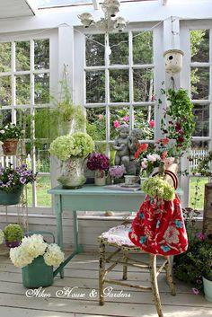 Our Little Conservatory | Aiken House & Gardens | Bloglovin'- old French doors for Windows