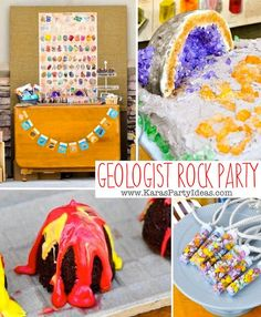 Geologist Rock Geology themed birthday party FULL of awesome ideas! Via Kara's Party Ideas KarasPartyIdeas.com THE place for ALL things PARTY!