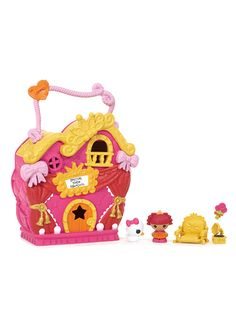 The world of Lalaloopsy™ is now tinier than ever - introducing Lalaloopsy Tinies™! The Lalaloopsy Tinies™ have their very own playhouse. Each one designed specifically to match the characters personality and flair. Loaded with Lalaloopsy™ style, each Tinies House is the perfect size for all your favorite Lalaloopsy Tinies™.