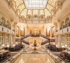 Opulent: The hotel features a beautiful lobby, and 2,000 square-metre spa