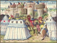 after 1448, France. Details from the 'Chronik der Burgunderkriege', illumination (Wiener Hofbibliothek, Österreich)