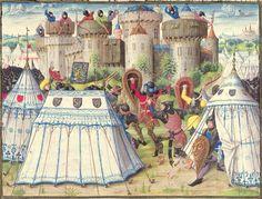after 1448, France. Details from the 'Chronik der Burgunderkriege', illumination (Wiener Hofbibliothek, Österreich)