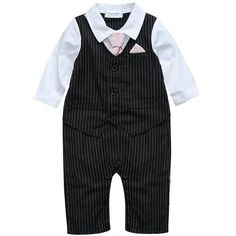 Baby Boy Wedding Tuxedo Waistcoat Design 1pc Outfit Suit (265 ARS) ❤ liked on Polyvore featuring baby boy