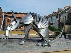 Sculptor Ptolemy Elrington - a different breed of British artist Armadillo, Sand Sculptures, Wood Sculpture, Art Carved, Artist Profile, Metal Crafts, Art Forms, Metal Art, Art Images