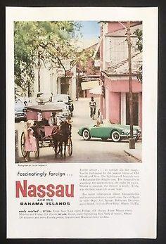 1959 MG MGA green car photo Nassau Bahamas vintage travel print ad Vacation Images, Nassau Bahamas, Paradise Island, Travel And Tourism, Car Photos, Print Ads, Vintage Travel, Travel Posters, Colors