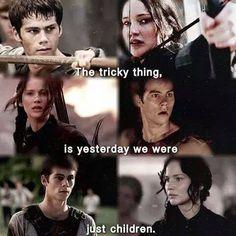 The Maze Runner // The Hunger Games Thomas // Katniss