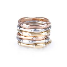 Adorable for everyday! - Set of Six Stackable Rings - Chloe + Isabel $38