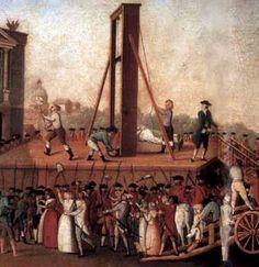 La guillotine sur la place de la Révolution (aujourd'hui place de la Concorde), musée Carnavalet, Paris