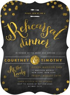 Shutterfly offers rehearsal dinner invitations in beautiful styles and colors. Create wedding rehearsal dinner invitations to celebrate your special day + Save up to Rehearsal Dinner Invitations, Wedding Rehearsal, Rehearsal Dinners, Bridal Shower Invitations, Invites, Gala Invitation, Invitation Design, Christmas Address Labels, Starry Night Wedding