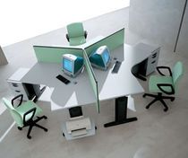 contemporary multiple workstation for open-space 9.27 by Perin, Topan archiutti