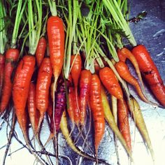 #Carrots in 3 colors