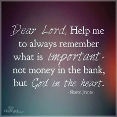 Money isn't everything, but God is.