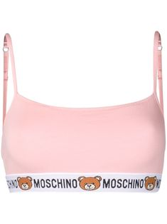 Shop online Moschino bear sports bra now with Same Day Delivery in London. Moschino Bear, Kendall Jenner Style, Kylie Jenner, Cute Underwear, Celebrity Outfits, Celebrity Style, Calvin Klein, Crop Top And Shorts, Pink Sports Bra