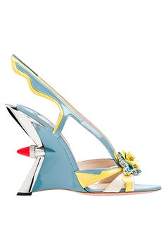 "From Prada's 2012 shoe collection... From my author bio: ""She thinks the world would be a better place if people wore boas and drove cars with fins."""