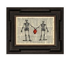 The Human Skeleton In Love Original Collage Print on by AvantPrint, $7.00